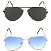 Vishva Trendz Hub Aviator Sunglasses(Multicolor)