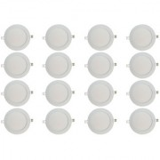 Bene LED 12w Round Slim Panel Ceiling Light Color of LED Warm White (Yellow) (Pack of 16 Pcs)