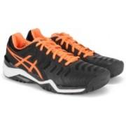 Asics GEL-RESOLUTION 7 Tennis Shoes For Men(Black)