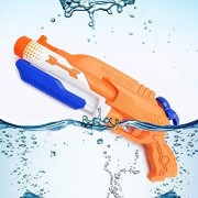 Happytime 2 Soaking Modes Target 32 Feet Away , High Capacity Toddler Gun(Holds 41ounces Of Water ) Water Fun Blasters Toys Gun With Targets For Childrens