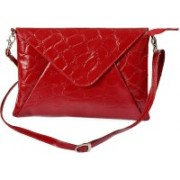 Rivory Bros Women Red Genuine Leather Sling Bag