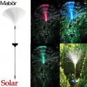 Mabor Solar Power Color Change Fibre Optic LED Light Lamp Garden Outdoor Yard Path