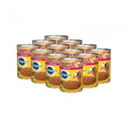 Pedigree Chopped Ground Dinner With Beef Canned Dog Food, 22-oz, case of 12