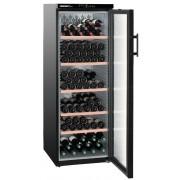 Vitrina pentru vinuri Liebherr WTb 4212, 395 L, 200 sticle, Rafturi de lemn, Control taste, Display, H 165 cm, Clasa A, Negru
