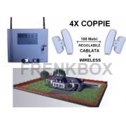 Gestione con APP. Allarme antifurto GSM con barriere perimetrali anti-intrusione