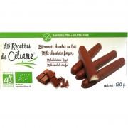 Bâtonnets chocolat lait sans gluten Les Recettes de Céliane 130g