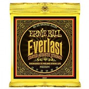 Ernie Ball Everlast Medium Coated 80/20 Bronze Acoustic Set .013 - .056