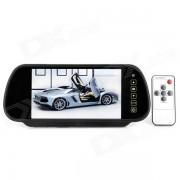 """""""2-en-1 del coche de 7 """"""""LCD Espejo retrovisor & Wireless Camera - Negro"""""""