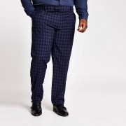 river island Mens Big and Tall Navy slim fit suit trousers (42L)