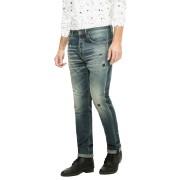 【65%OFF】ダメージウォッシュ テーパードデニム インディゴ 38 ファッション > メンズウエア~~パンツ