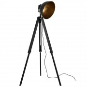 [lux.pro]® Lámpara de pie Passau diseño industrial 135 x 60 x Ø30 cm lámpara de estudio tripode negro / oro