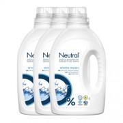 Neutral wasmiddel wit - 3x20 wasbeurten - vloeibaar - parfumvrij