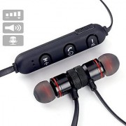 Deals e Unique Wireless Bluetooth Headphone Magnet Stereo Sound and Controlling Buttons with Built-in Microphone