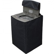 Glassiano Dark Gray Waterproof Dustproof Washing Machine Cover For LG T8567TEEL5 fully automatic 7.5 kg washing machine