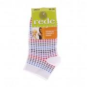 Детски къси чорапи Rede бели с многоцветни точки