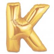 Balon folie figurina litera K aurie