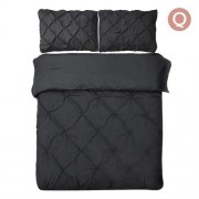 Queen 3-piece Quilt Cover Set Black