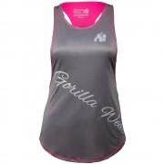 Gorilla Wear Florida Stringer Tank Top - Gray/Pink - M