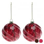 Globuri de Crăciun (2 pcs) 112537 - Culoare Roșu