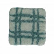 Dille&Kamille Dessous de verre, feutrine, vert clairà carreaux, 10 x 10 cm