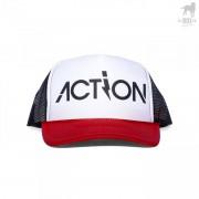 CA-RIO-CA Action 3 Tone Trucker Hat Black/Red/White CRC-H106100