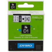 Dymo 43613 Cinta mecanográfico negro sobre blanco Original S0720780