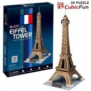 Puzzle 3D Cubic Fun - Paris: Eiffel Tower, 35 piese (Cubic-Fun-C044H)