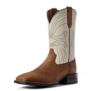 ARIAT Men's Sport Wide Square-Toe Western Cowboy Boot, Distressed Brown, 7 M US