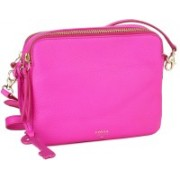 Fossil Women Pink Leatherette Satchel