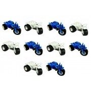 LEGO LEGO 5x Blue + 5x White Quad Motorcycle Tricycle Bikes For Minifigs