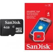 SanDisk Basic 4 GB MicroSDHC Class 4 16.9 MB/s Memory Card