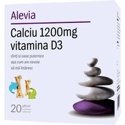 Calciu 1200mg si Vitamina D3 Alevia 20dz
