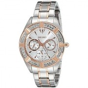 Seiko Multi-Function Silver Dial Two-Tone Mens Watch (SKY678)