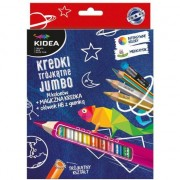 Set jumbo creioane colorate, creion magic si creion HB, Kidea
