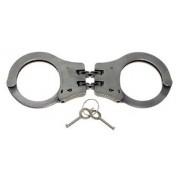 Kajdanki zawiasowe policyjne - stalowe z podwójną blokadą