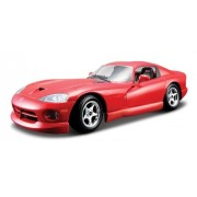 Bburago 2011 Bijoux 1:24 Scale Red Dodge Viper GTS Coupe