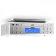 KRCD-150 Radio Sottopensile Da Cucina CD USB AUX VHF RDS Sveglia Telecomando Argento