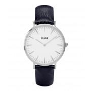 CLUSE Horloges La Boheme Silver Colored White Blauw
