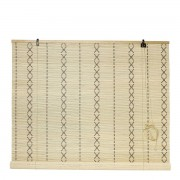 Nordal lamellen boho natural bamboo cross 160x120
