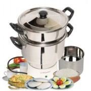 Maestro MC2 Plus Electric Rice Cooker with Steaming Feature(3 L, Silver)