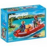 Строител ПЛЕЙМОБИЛ - Надуваема лодка с изследователи, 5559 Playmobil, 291141