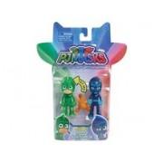 Set Figurine Pj Masks 2 Pack Basic Hero Vs Villain Gekko & Night Ninja