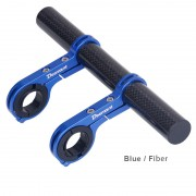 DEEMOUNT Bicycle Handlebar Extended Bracket Headlight Mount Bar Holder Support Extender - Blue