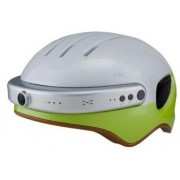 Casca inteligenta Airwheel C5, inregistrare video, conectare Bluetooth, Wi-Fi Green, Foto, Video, Baterie Ly-polymer, Durata max. 4 ore, Incarcare baterie 3 ore, Suport barbie si chinga casca (Gri/Verde)