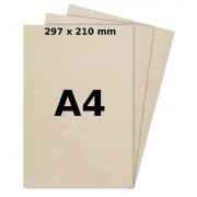 Birch plywood 4mm A4 for laser, pyrography, craft and model making