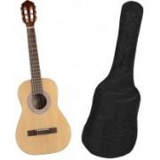 Chitara clasica din lemn 95 cm natur clasic husa nylon cadou
