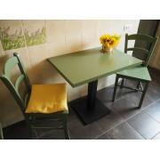 Masa cu picior metalic cu scaune MD106 colorate