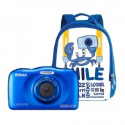 Nikon Coolpix W100 Aparat Foto Compact Subacvatic 13.2MP Kit cu Rucsac Albastru
