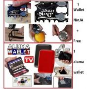 Multipurpose 18 In 1 Wallet Ninja Toolkit Credit Card Size With 1 Aluma Wallet Codefz-3880