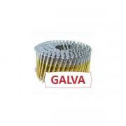 Pointes 16° 2.5x65 mm crantées galva en rouleaux plats fil métal X 7200